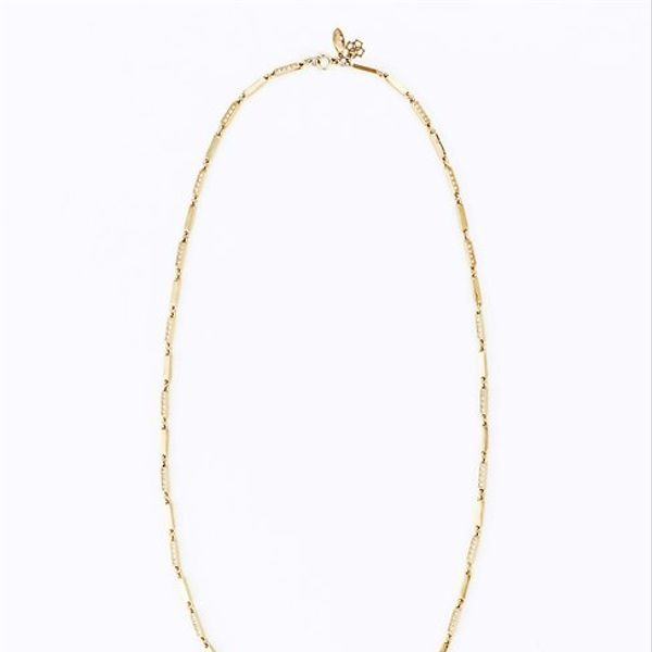 Ann Taylor Delicate Pave Link Long Necklace