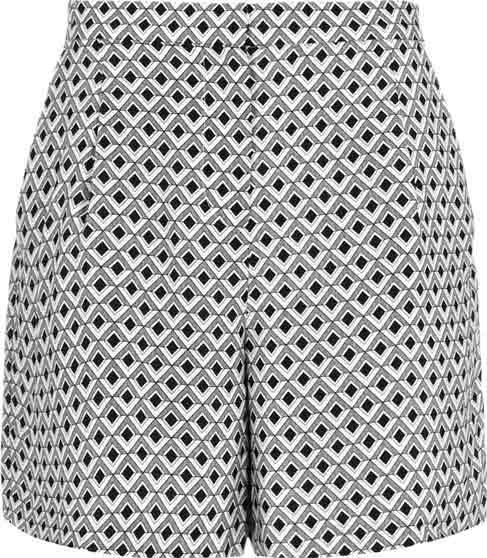 Reiss Rosie Geo Print Silk Shorts