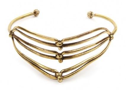 Aesa  Aesa Triple Knot Collar Necklace