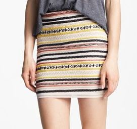 Willow & Clay Embellished Miniskirt