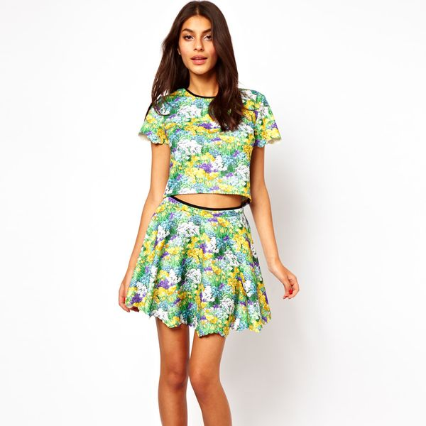 Lashes of London  Floral Print Skater Skirt