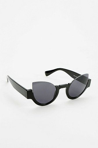Urban Outfitters Topless Cat-Eye Sunglasses