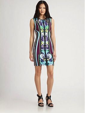 Clover Canyon  Graphic Printed Bodycon Dress