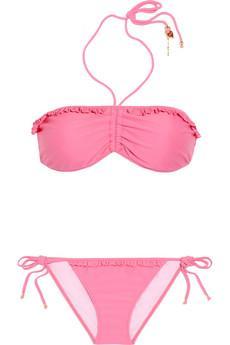 Miu Miu  Ruffled Bandeau Bikini Suit
