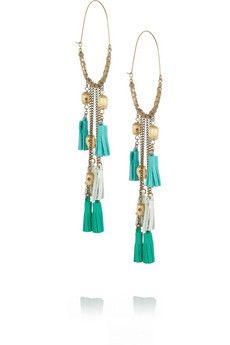 Isabel Marant  Bone and Leather Tassel Earrings