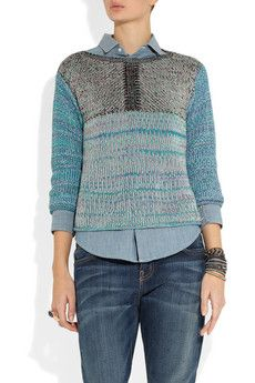See By Chloe  Cotton Blend Sweater