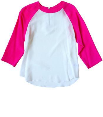 Friends & Associates  Barrett Baseball Shirt Silk