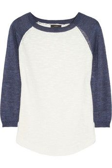 J.Crew  Knitted Baseball Sweater