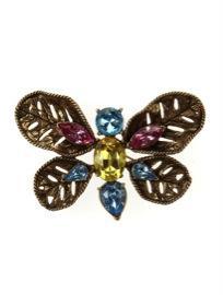Oscar de la Renta Oscar de la Renta Multi Stone Butterfly
