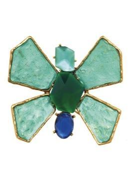 Oscar de la Renta Oscar de la Renta Butterfly Resin Stone Shaped Brooch