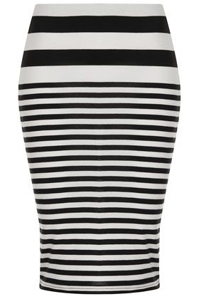 Topshop  Varied Stripe Tube Skirt