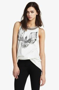 3.1 Phillip Lim 3.1 Phillip Lim Beaded Collar Phoenix Print Tank