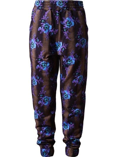 Christopher Kane  Floral Printed Cotton Sweatshirt Pants