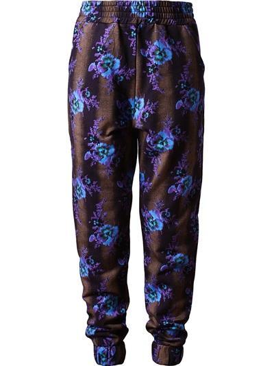 Christopher Kane  Floral Printed Cotton Sweatshirt Pants