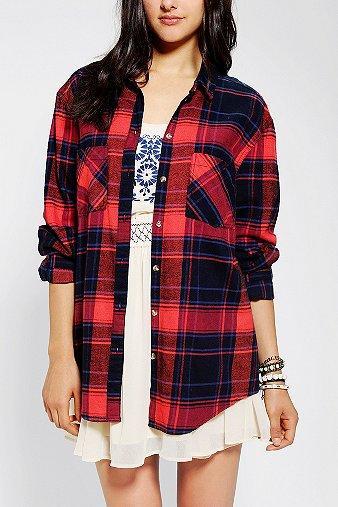 BDG  Frankie Boyfriend Flannel Shirt