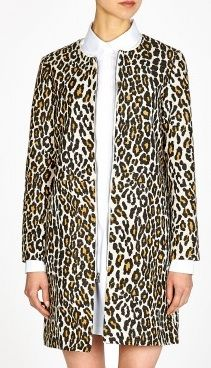 Sea NY  Raffia Leopard Duster Coat