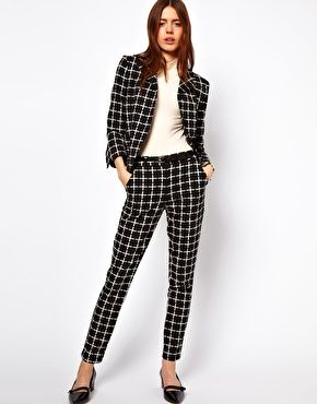 ASOS  Blazer and Pants in Ponte Check