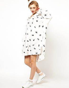 Ashish Oversized Shirt Dress With Sequined Numbers
