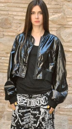 KTZ Poet Embroidered Short Bomber Jacket