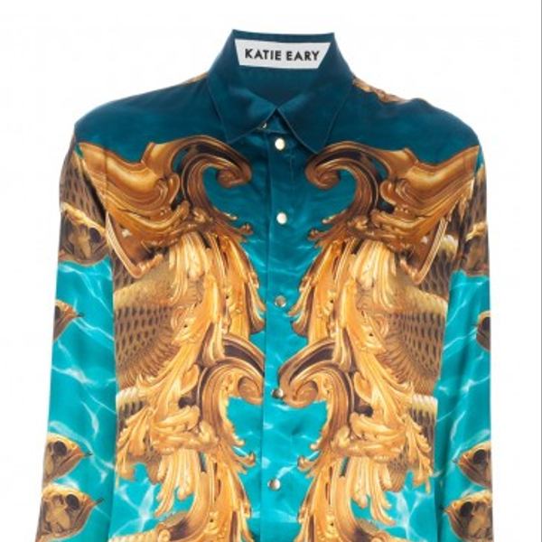 Katie Eary Blue Seas Silk Shirt