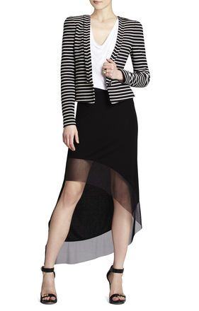 BCBGMaxazria Hendrix Striped Ottoman Jacket