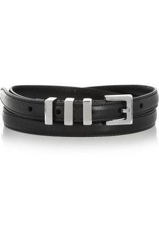 Saint Laurent Skinny Leather Belt