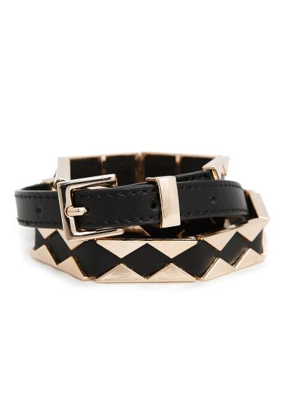 Mango Metal Triangle Belt