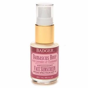Badger Damascus Rose Face Sunscreen