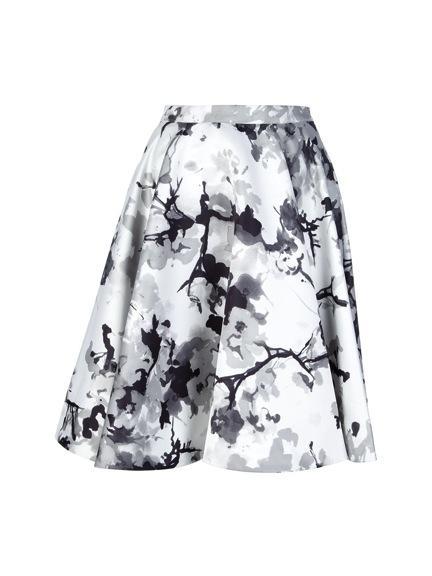 Pierre Balmain  Printed A-Line Skirt