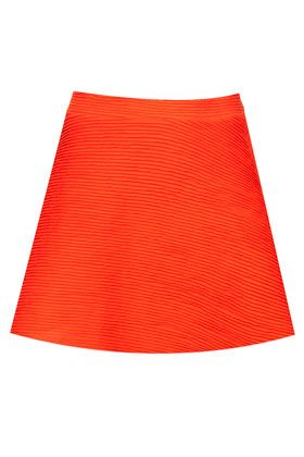 Topshop  Orange Ottoman Skater Skirt
