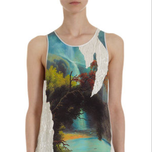 3.1 Phillip Lim  Eden Print Beaded Tank