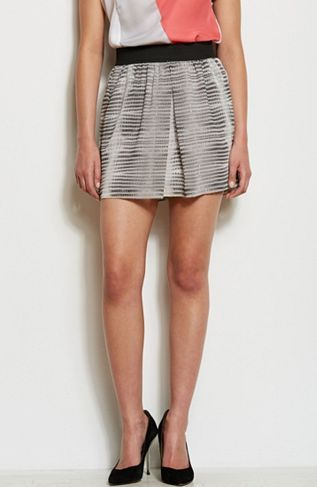 Armani Exchange  Pleated Print Mini Skirt