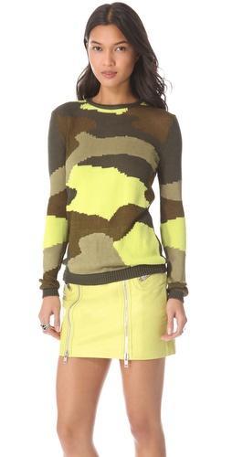 McQ Alexander McQueen  Camouflage Sweater