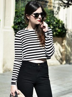 See This Blogger's Stylish Take on a Striped Crop Top for Fall