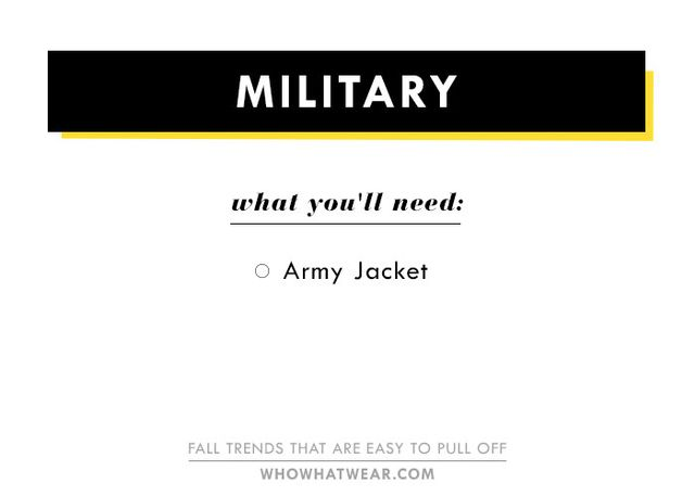 We love the military trend not only because it's incredibly coolbut also because it's very easy to nail the trend. All you really need is a vintage-esque military jacket. Throw...