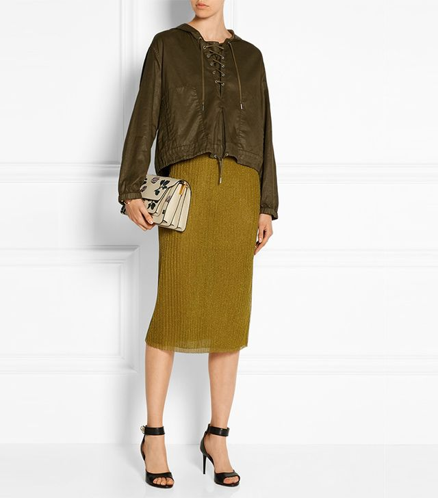 J.Crew Collection Metallic Ribbed Jersey Skirt