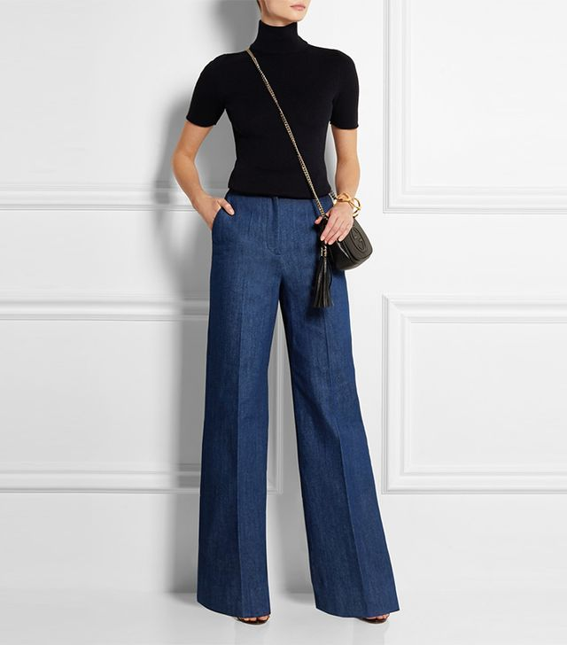 Topshop Unique David High-Rise Wide-Leg Jeans