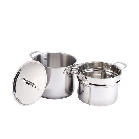 8-Quart Self-Draining Stainless Steel Pasta Cooker