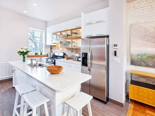 The garden level has a full-floor apartment that can be used as a rental or a family room, office and guest room.  The listing agent was Cyrus Greenspon ofSotheby's International...