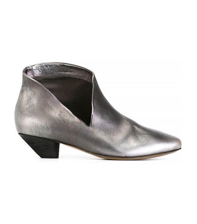 Marséll Metallic Cut-Out Ankle Boots