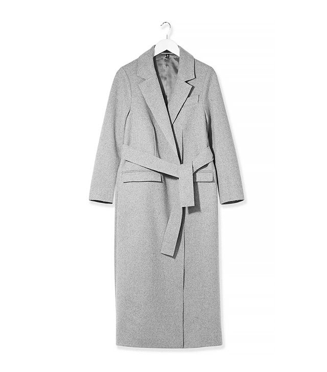 Topshop Boutique Belted Wool Wrap Coat