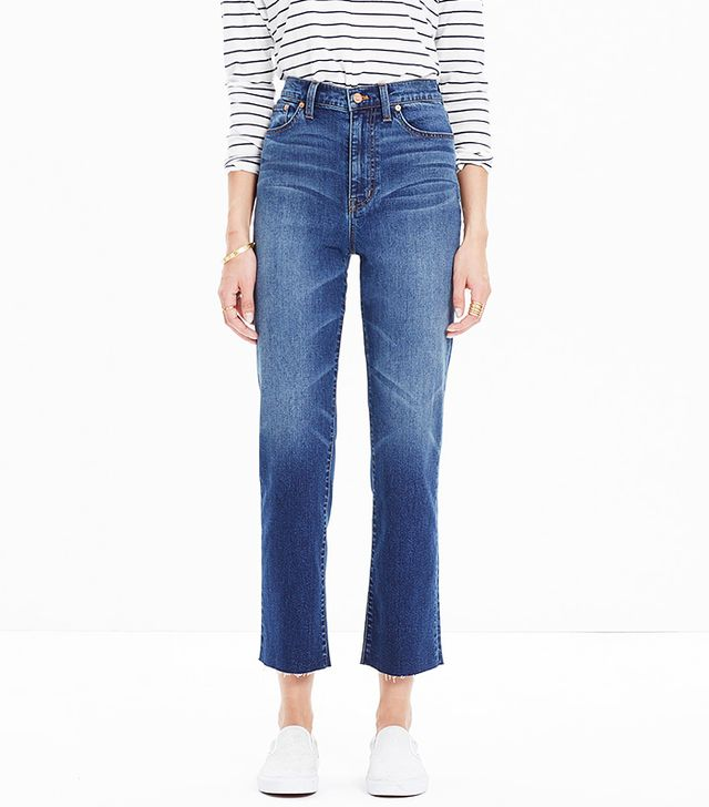 Madewell High Riser Crop Flares