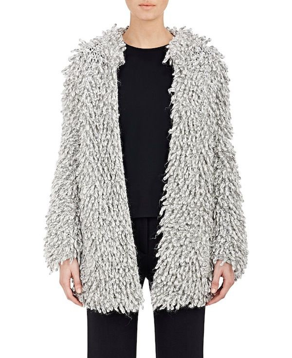 Hellessy Sergei Hand-Knit Twisted Fringe Coat