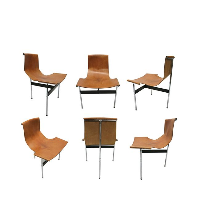 "Laverne International Leather ""T"" Chairs"