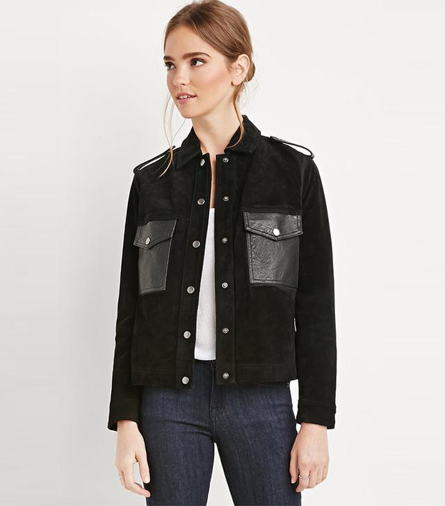 Forever 21 Genuine Suede Jacket