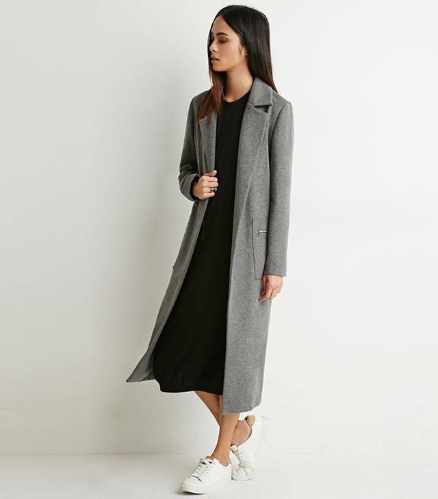 Forever 21 Zip-Pocket Wool Trench