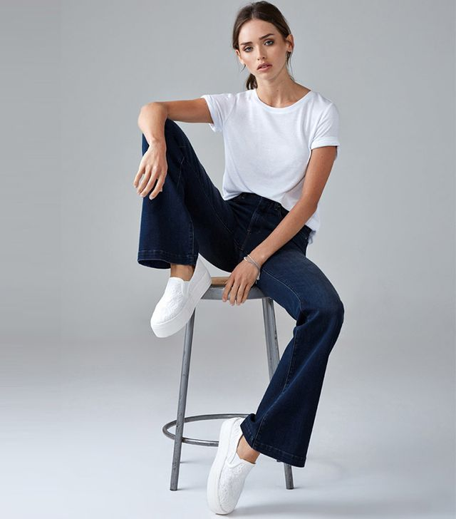 Forever 21 High-Waisted Wide-Leg Jeans