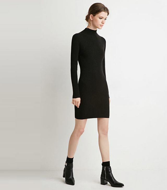 Forever 21 Ribbed Knit Sweater Dress