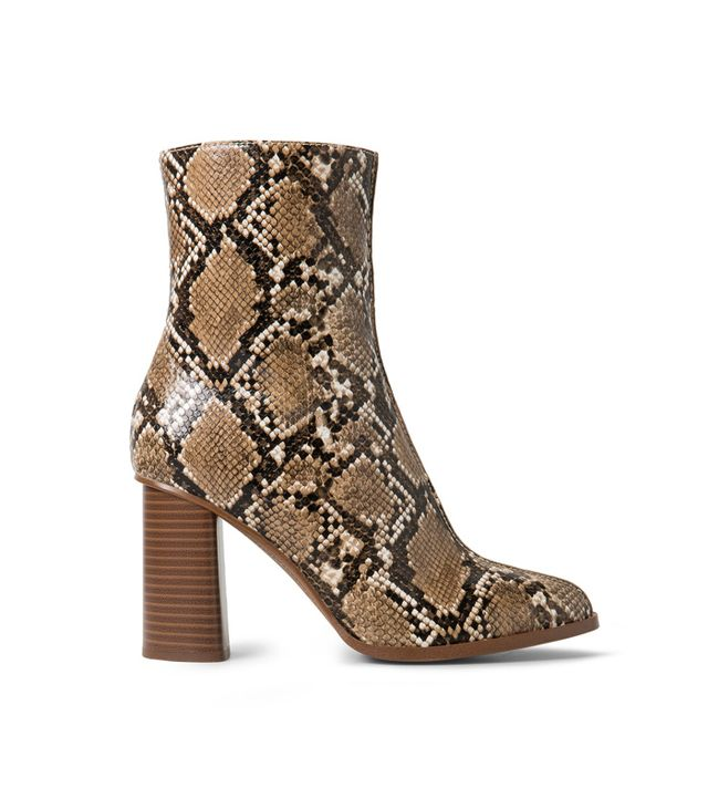 Mango Snake-Finish Ankle Boots