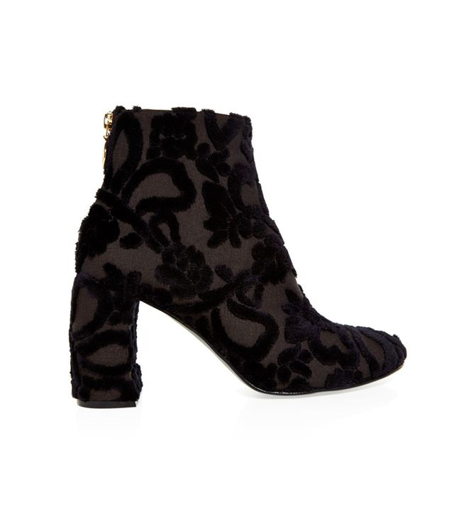Stella McCartney Floral-Flocked Ankle Boots